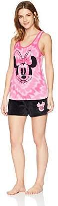 Disney Women's Minnie Mouse 2-Piece Pajama Tank/Short Set