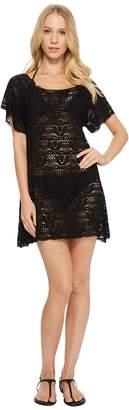 Nanette Lepore Crochet Short Dress Cover-Up Women's Swimwear
