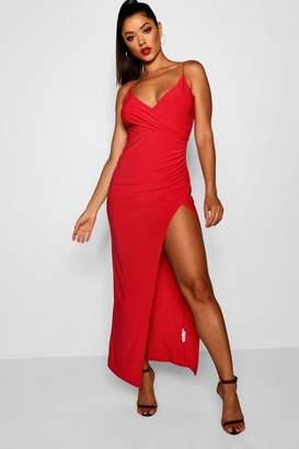 boohoo Wrap Detail Maxi Dress