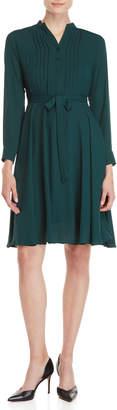 Nanette Lepore Nanette Belted Long Sleeve Shirtdress