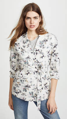 Rebecca Taylor Printed Linen Jacket