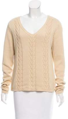 Façonnable Textured Long Sleeve Sweater