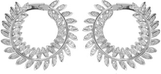 Laurèl Latelita Leaf Sweeping Hoop Silver
