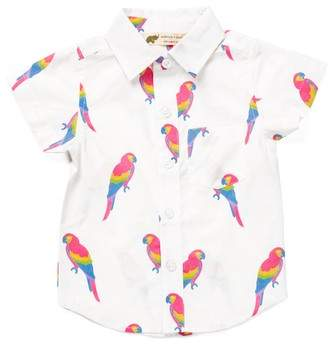 Monica + Andy Parrot Organic Cotton Oxford Shirt