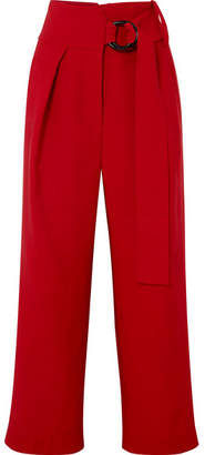Petar Petrov Herma Canvas Straight-leg Pants - Crimson