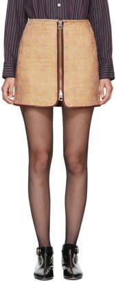 Isabel Marant Tan Velvet Geina Miniskirt