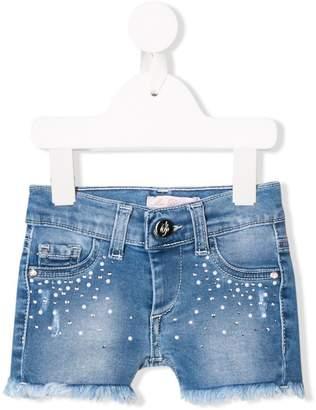 Miss Blumarine micro studs denim shorts