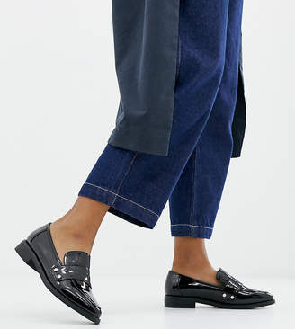 London Rebel Wide Fit Clean Loafers