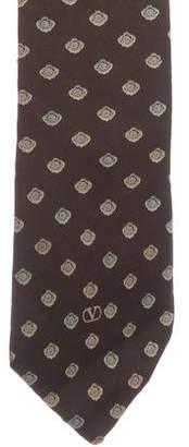 Valentino Geometric Print Silk Tie