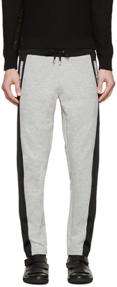 Versus Grey & Black Sweatpants $350 thestylecure.com