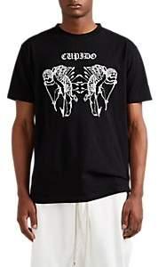 "Marcelo Burlon County of Milan Men's ""Cupido"" Cotton T-Shirt - Black"