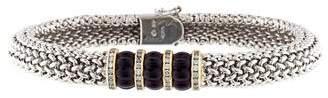 18K Diamond & Amethyst Bracelet