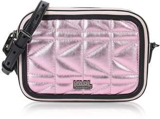 Karl Lagerfeld Metallic Pink K/Kuilted Camera Bag