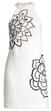 Trina Turk Women's Wanderlust Classic Crepe Embellished Dress - White Wash - Size 0
