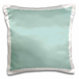 3dRose Plain mint blue - solid color - light turquoise-grey-gray - modern contemporary simple pastel teal - Pillow Case, 16 by 16-inch