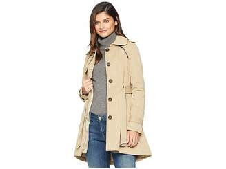 French Connection Pleated Skirt Trench Coat Women's Coat