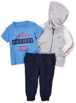 Tommy Hilfiger Infant Boys) 3-Piece Hoodie, Tee & Joggers Set