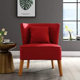 Manor Park Modern Accent Chair with Curved Back - Red