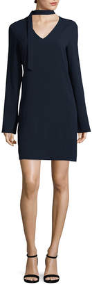 Tibi Savanna Crepe Tie Dress