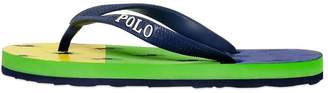 Ralph Lauren Logo Printed Rubber Flip-Flops