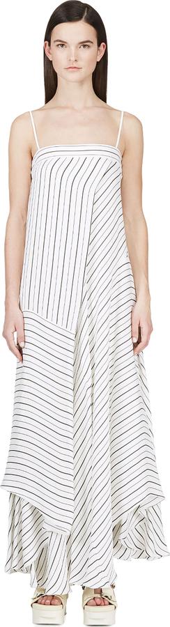 Chloé Ivory & Black Switch Stripe Dress