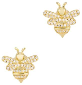 Bumble Bee Apm Monaco APM Monaco Gold Tone Stud Earrings
