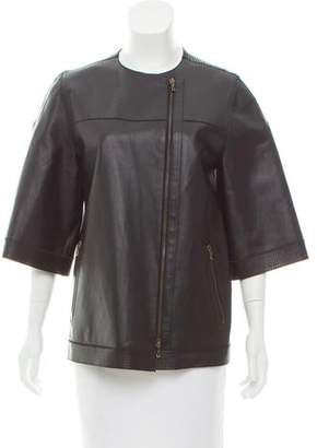 Lanvin Leather Perforated Jacket