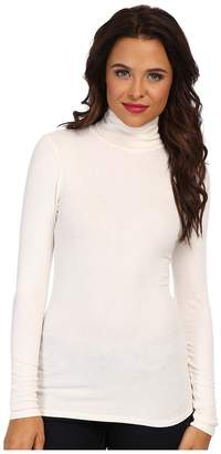 Three Dots 2x1 Viscose L/S Turtleneck Women's Long Sleeve Pullover