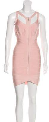 Herve Leger Sleeveless Bandage Dress Pink Sleeveless Bandage Dress