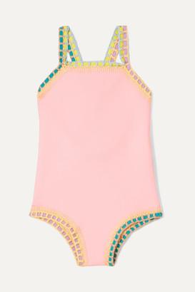Kiini Kids - Bea Crochet-trimmed Swimsuit - Pink