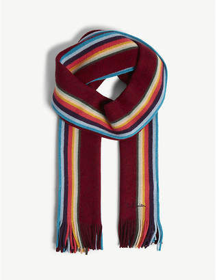 Paul Smith Twisted Artist wool scarf