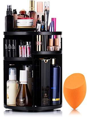 Lisiting 360 Degree Rotating Makeup Organizer for Birthday Gifts - Extra Large Capacity Adjustable Multifunctional Cosmetic Storage Box - Fit for Skin Care