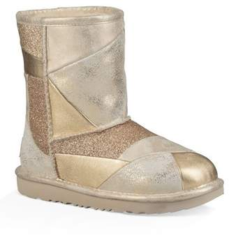 UGG Classic Short II Metallic Patchwork Boot (Toddler & Little Kid)