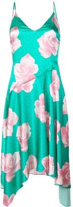 Fleur Du Mal rose print midi dress