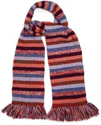Gucci Striped Wool Blend Scarf - Womens - Multi