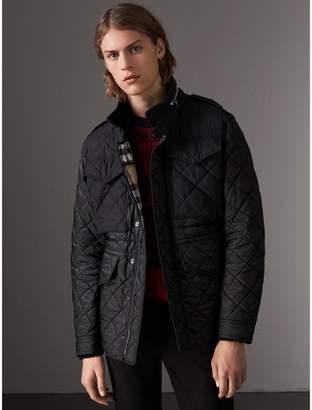 Burberry Packaway Hood Diamond Quilted Field Jacket