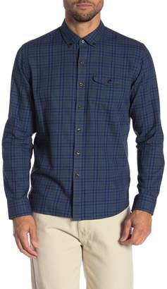 Michael Bastian Plaid Long Sleeve Elbow Patch Shirt