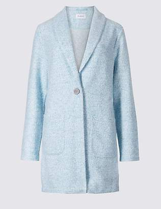 Classic Textured Single Breasted Coat