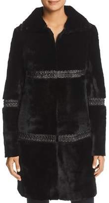 Elie Tahari Eden Paneled Fur Coat