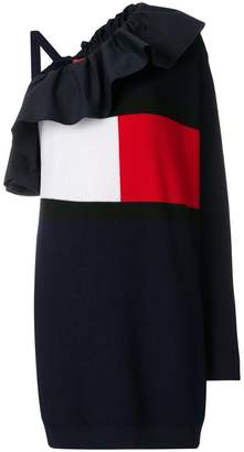 Tommy Hilfiger asymmetric logo dress