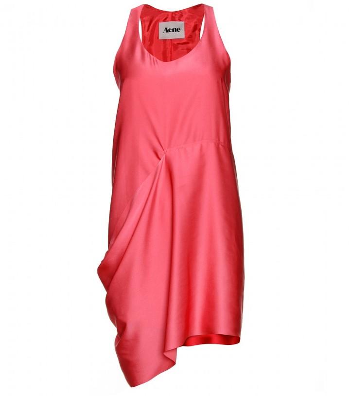 Acne DRAPED SATIN DRESS