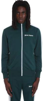 Palm Angels Sweatshirt In Green Polyester