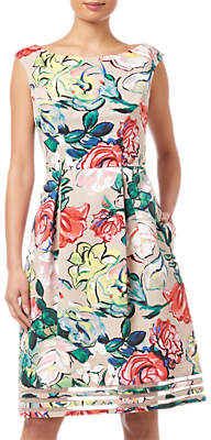 Adrianna Papell Stained Glass Dress, Multi