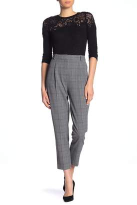 Rebecca Taylor Modern Checkered Pleat Front Pants