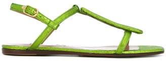 L'Autre Chose crackle effect sandals