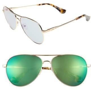 Sonix Lodi 61mm Mirrored Aviator Sunglasses