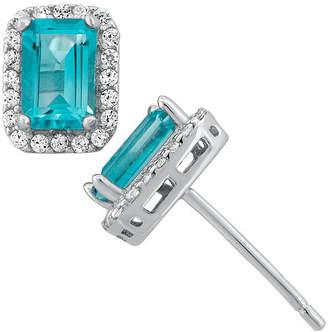 FINE JEWELRY Genuine Sky Blue Topaz Sterling Silver Earrings