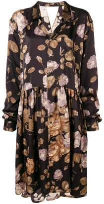 Junya Watanabe floral oversized shirt dress