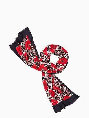Kate Spade Poppy field silk oblong scarf
