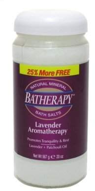 Queen Helene Batherapy Lavender Aromatherapy Salts 16 Ounce (473ml) (6 Pack)